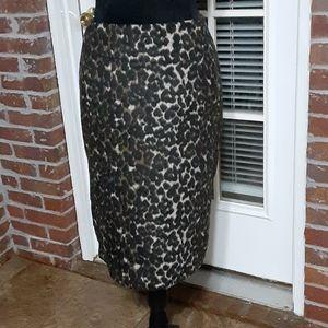Lord & Taylor Woman Leopard print pencil skirt 16W